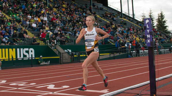 Sophomore Kaitlyn Fischer at the 2014 NCAA Outdoor Track & Field Championships